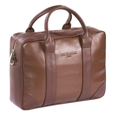 Skórzana torba biznesowa na laptopa i dokumenty