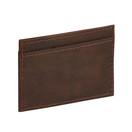 Skórzany cienki portfel męski, etui na karty PM-10/CH